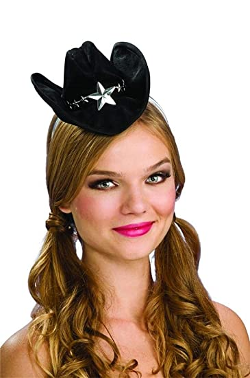 c46897325e932 Amazon.com  Rubie s Mini Cowboy Hat Womans Halloween Costumes