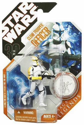 Star Wars 30th Anniversary Clone Trooper Officer with Coin (Colors May (Green Clone Trooper)