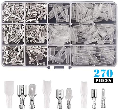 TUOREN 1.0mm/² Insulated Pin Cord End Wire Ferrules Terminal VE1008 18AWG 1000Pcs