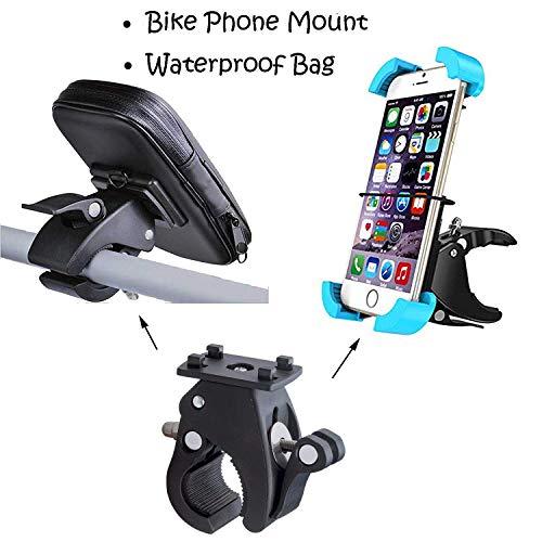 Universal Bike Motorcycle Bicycle Phone Mount Holder Bike Handlebar Mount & Waterproof Bike Motorcycle Bag Pouch