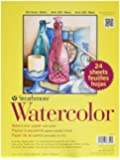 Strathmore Cold Press 140-Pound 24-Sheets Watercolor Paper, 9 x 12 Inches (361900)