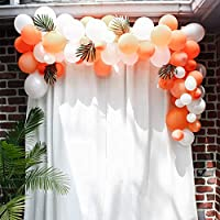 Pateeha White Orange Balloons 10In 101PCS Latex Party Balloons Arch Kit for Party Decoration Wedding Birthday Baby Shower Christmas Party (1Pcs Balloon Garland Strip)