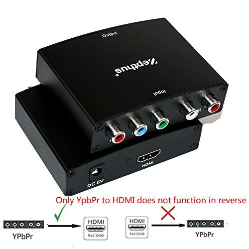 (Zepthus 5RCA Component RGB YPbPr to HDMI v1.3 HDCP Video Audio Converter for HDTV, DVD, PSP, Wii )