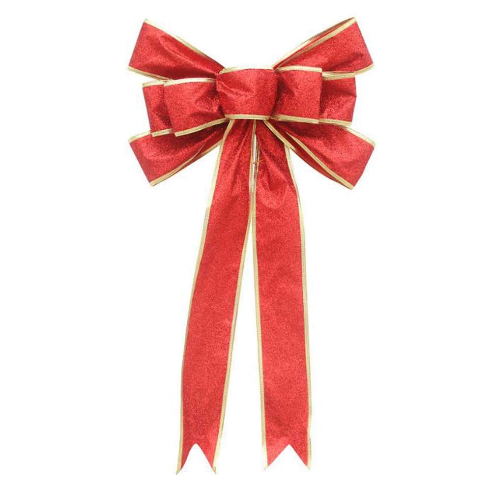 ANQI Red Christmas Bow Ornament Christmas Tree Pendant, Creative Gift Box Decorative Bow,Door and Window Decorative Bow Random Color 2PCS