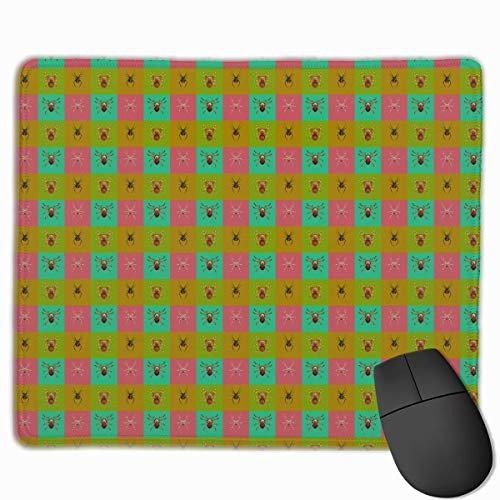 Spiders Set Dangerous Insects Quality Comfortable Game Base Mouse Pad with Stitched Edges Size 11.81 9.84 Inch]()