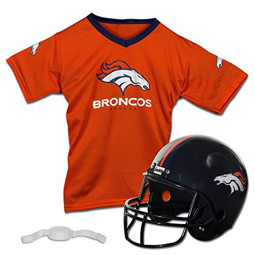 Franklin Sports NFL Denver Broncos Replica Youth Helmet and Jersey Set]()