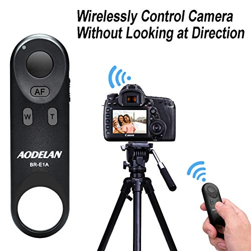 AODELAN Wireless Remote Control BR-E1A Canon EOS R, M50, 6D Mark II, 77D, 800D, 200D, EOS Rebel SL2, Rebel T7i, PowerShot SX70 HS
