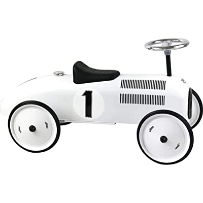 "Vilac Vintage Ride On Car, Metal Speedster. 30"" Long - Polar White : Baby [5Bkhe0707914]"