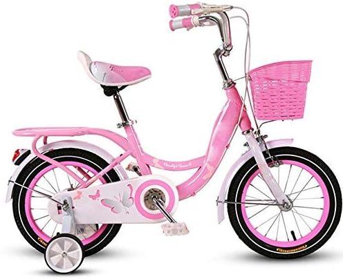 YSA 子供用自転車、子供用自転車トレーニングホイール12/14/16/18インチの男の子と女の子のサイクリング、5〜9歳の子供向け、ピンク、薄紫