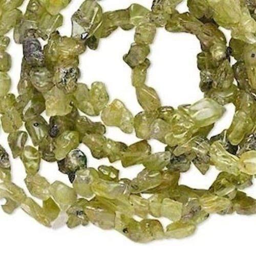 (36'', Strand Natural Peridot Gemstone Mini Chip Beads)