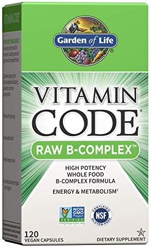 Garden of Life Vitamin B Complex - Vitamin Code Raw B Vitamin Whole Food Supplement, Vegan, 120 Capsules, Packaging May Vary