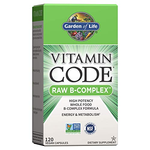 Garden of Life Vitamin B Complex – Vitamin Code Raw B Vitamin Whole Food Supplement, Vegan, 120 Capsules