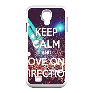 KEEP CALM and LOVE ONE DIRECTION Live Samsung Galaxy S4 Cases, Bloomingbluerose {White}