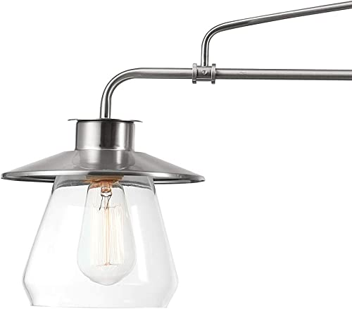 Globe Electric 60467 Nate 3 Brushed Steel Pendant Light