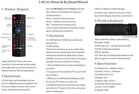 Aerb Aerb 2 4G Mini Wireless Keyboard Mouse Multifunctional W