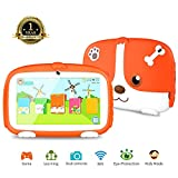 Kids Tablet, 7 inch Tablet for kids Parental control Kids Mode Pre-Installed Learning&Games Apps with WiFi Dual Cameras 1G+8G Android Tablet 1024x600 HD Display Safety Screen Kid-Proof Case