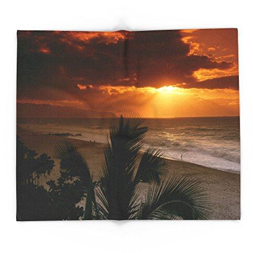 Society6 North Shore Sunset Hawaii 88'' x 104'' Blanket by Society6