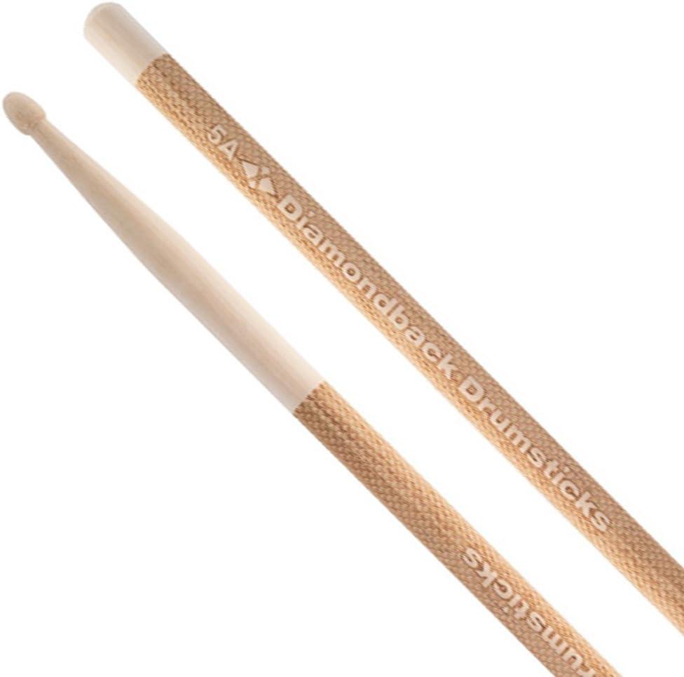 5A Diamondback Drumsticks Hickory Laser Engraved Drum Sticks