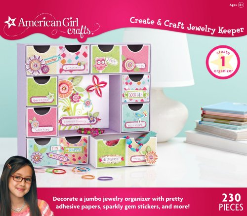 American Girl Crafts Jewelry Box Kit for Girls, 230pc, 3.5'' x 14.2'' x 12.5'' ()