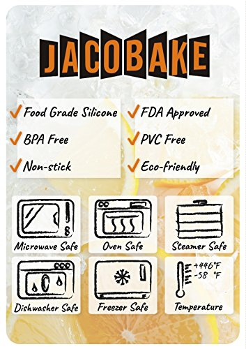 Jacobake 8-Cavity Ball Shape Silicone Mold - Easy Baking Tools for Mousse Cake Chocolate Dessert Ice Cream Bombes - Nonstick & Easy Release - BPA free Food Grade Silicone by Jacobake (Image #5)