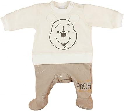 Strampler Schlafanzug Erstlingsanzug Winnie Pooh 50 56 Anzug Disney creme