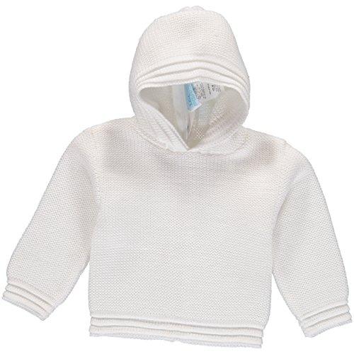 Julius Berger White Zip Back Hoodie - 18 Months - Handmade Baby Sweater