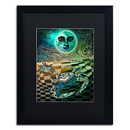 Trademark Fine Art Art Nouveau Zodiac Cancer by Color Bakery, Black Matte, Black Frame (Cancer Zodiac Frame)