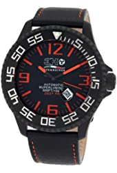3H Men's DPB1A 52MM Black PVD Automatic Black Dial Orange Markers Interchangeable Band Watch