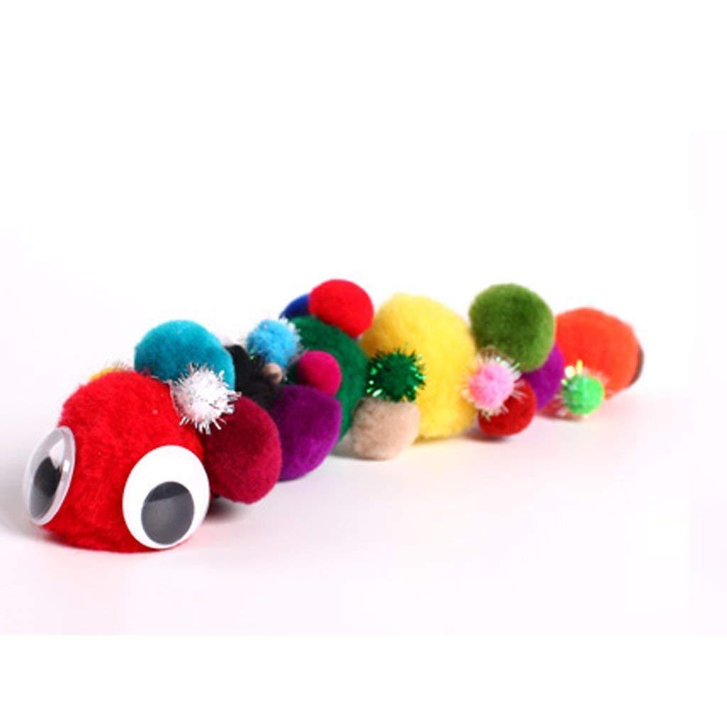 300 bunte Farben f/ür H/üte Schuhe Schals Taschen Charms B/ürobedarf Flauschige Pompons Kugeln 4 cm 3 cm 2,5 cm 2 cm 1,5 cm Packung ca