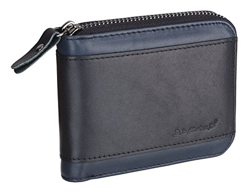 (Christmas gift Admetus Men gifts Genuine Leather Short Zip Cowhide Wallet credit card ID Purses)