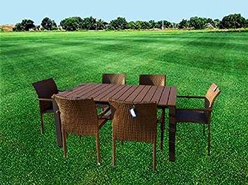 Amicasa tavolo sedie giardino tavolo allungabile cm