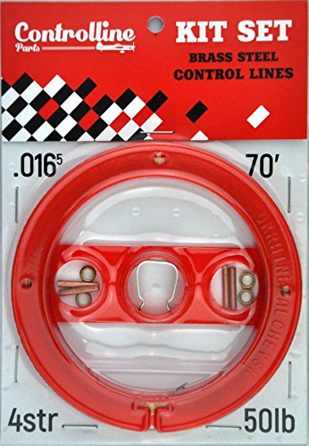 Line Kit for Control Line Planes (Red, 0.016x2x70), Control Line Model Aircraft, Control Line Model Airplanes, Control Line Flying, controllineparts [並行輸入品] B07R2CZ5JT