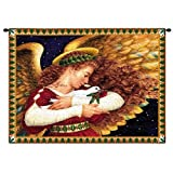 Pure Country Weavers Angel and Dove Wall Tapestry