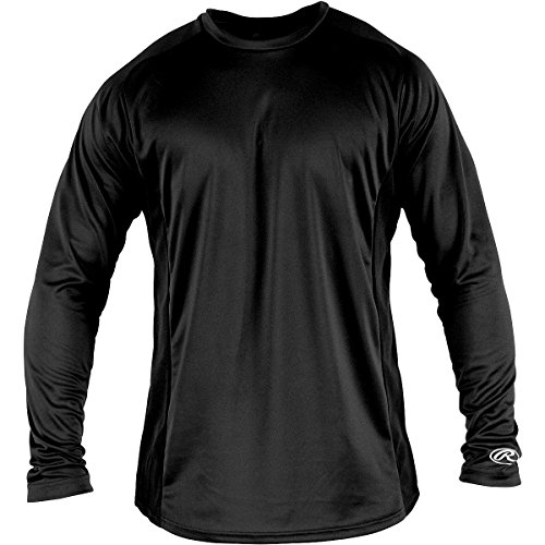 RAWLINGS BOYS' PERFORMANCE CREW NECK LONG-SLEEVE BASEBALL SH