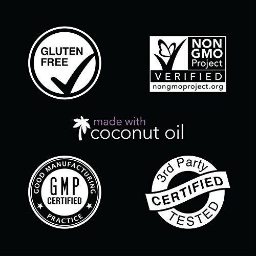 Biotin 10000mcg with Organic Coconut Oil  Supports Healthy Hair Skin  Nails  NonGMO Verified  Vegan