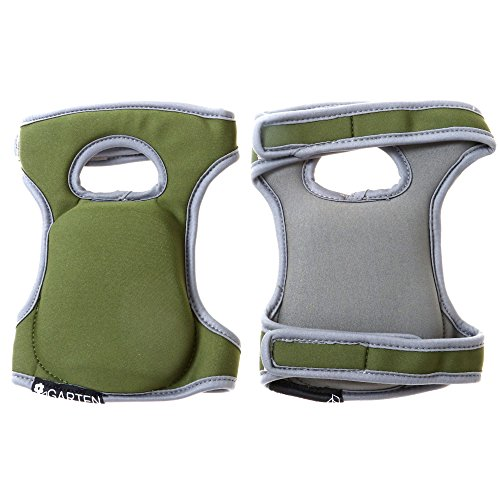 Comfortable Knee Pads for Scrubbing floors Gardening & Construction - Kneeling - Multi-use and Light Neoprene Fabric - Adaptable Straps - Color Green - Stylish and Unique design