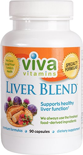 Viva Vitamins - Liver Blend - Supports Healthy Liver Function with Milk Thistle, Artichoke, Dandelion, & Proteolytic Enzymes to Digest Proteins/Fats & Cleanse the Liver - 90 Capsules Triple Yeast 90 Cap