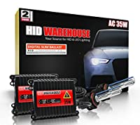 HID-Warehouse 35W AC Xenon HID Lights with Premium Slim AC Ballast