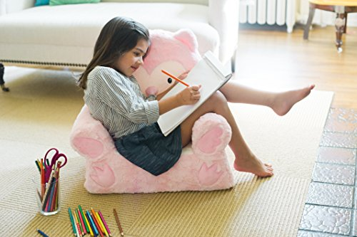 510JJx9LuiL - Sweet Seats   Pink Owl Children's Chair   Large Size   Machine Washable Cover
