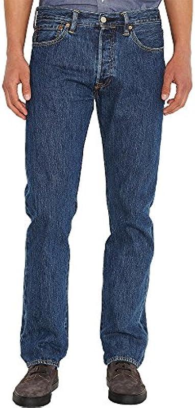 Levi's® Dżinsy męskie 501® Original Straight Fit Stonewash, kolor: Stonewash, rozmiar: W36/L32: Odzież