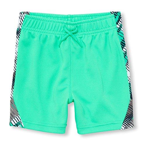 The Children's Place Baby Boys Mesh Active Shorts, Island Aqua Neon 99839, (Aqua Island)