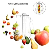 cheerfullus Tea and Fruit Infusion Pitcher with Detachable Ice Core Rod - 2.6
