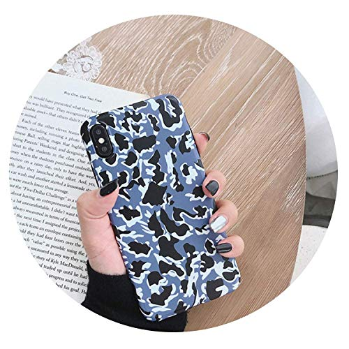 Leopard Print Phone Case for iPhone Xs Max XR X Case for iPhone 6 6s 7 8 Plus Back Cover Luxury Soft Cases,Style 2,for iphoneX,Darkblue,foriphoneXS ()