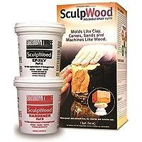 System Three 1-Quart SculpWood Moldable Epoxy Putty, 90301 by System Three