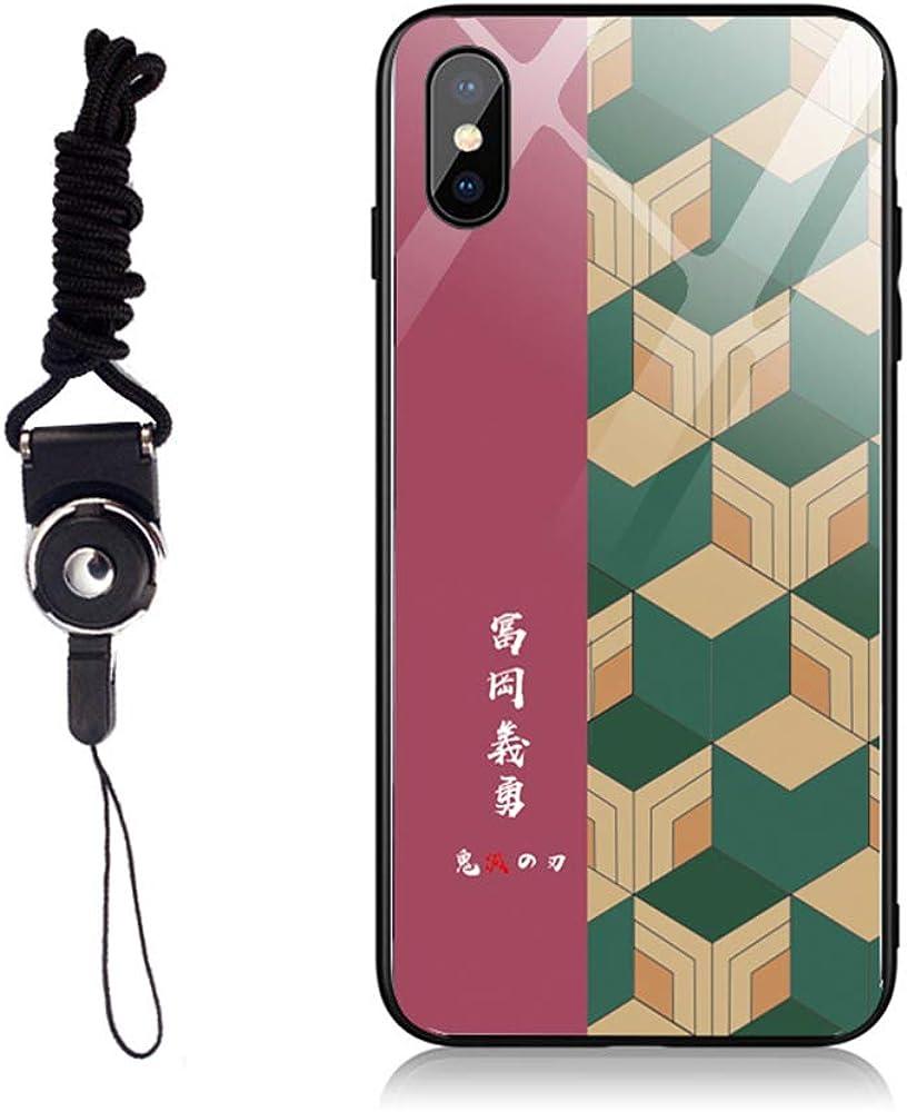 鬼滅の刃 きめつのやいば 冨岡 義勇風 iPhone 8/7/6/X/11 Plus ケース 携帯ケース カバー スマホケース