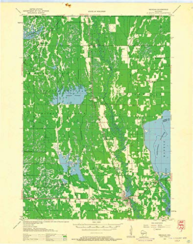 YellowMaps Necedah WI topo map, 1:48000 Scale, 15 X 15 Minute, Historical, 1958, Updated 1960, 27.33 x 21.51 in - Paper -