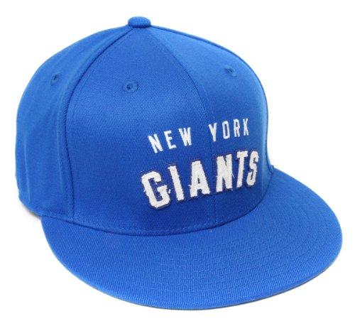 (NEW York Giants Structured Flex Flat Bill Reebok Hat - Size L/XL - TR82Z)