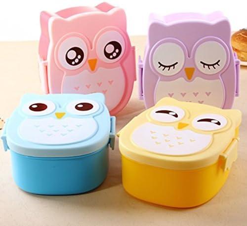 Ngan Store Kawaii Candy - Fiambrera de búho para microondas o ...