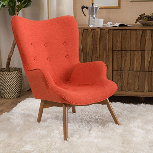 (Christopher Knight Home 297016 Hariata Arm Chair, Muted Orange)