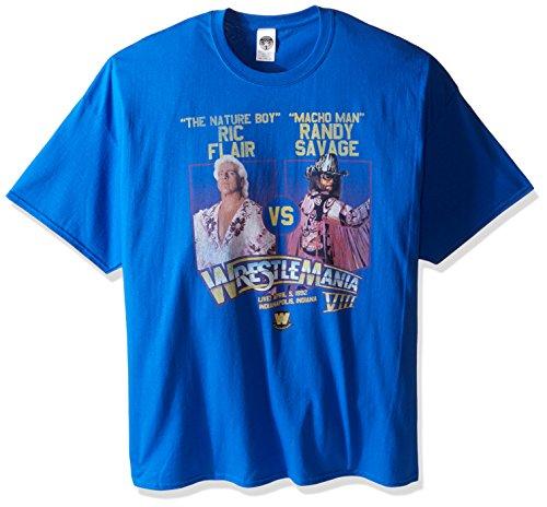 WWE Men's Big-Tall Wrestlemania 8 T-Shirt, Royal, XX-Large